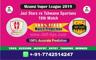 Who will win Today MSL T20 2019, 16th Match Spartans vs Jozi - Cricfrog
