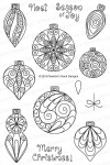 Newton's Nook Designs BEAUTIFUL BAUBLES Clear Stamp