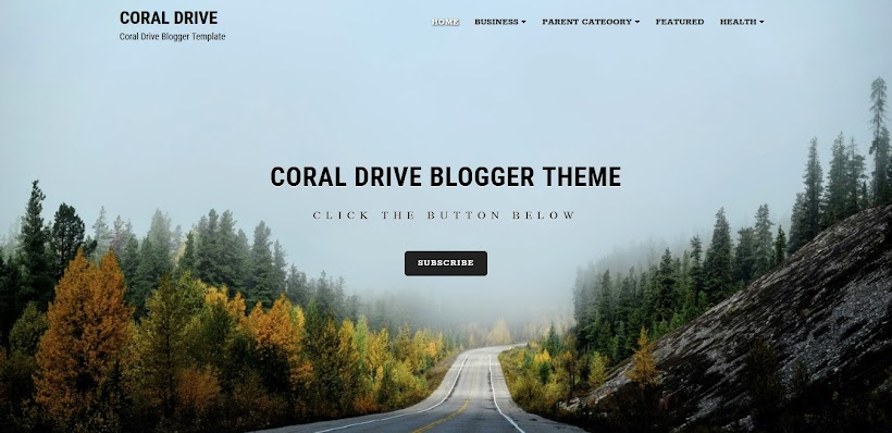 Coral Drive Free Blogger Template