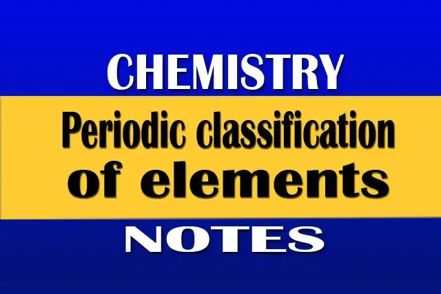 Periodic-classification-of-elements