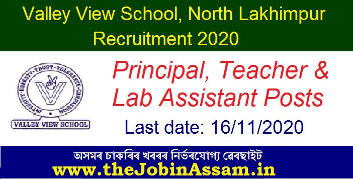 Valley View School, North Lakhimpur Recruitment 2020