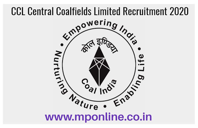 CCL Central Coalfields Limited Recruitment 2020