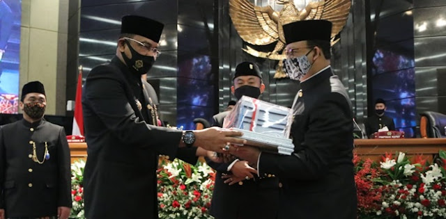 Kado Indah HUT DKI, Anies Catat Hattrick Predikat WTP dari BPK