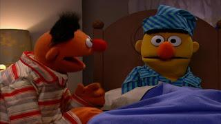 Ernie and Bert sleep, Sesame Street Episode 4308 Don't Wake the Baby