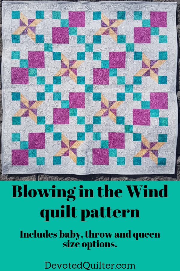Blowing in the Wind quilt pattern | DevotedQuilter.com