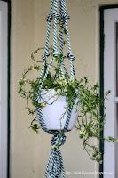 DIY  Rope Hanging basket