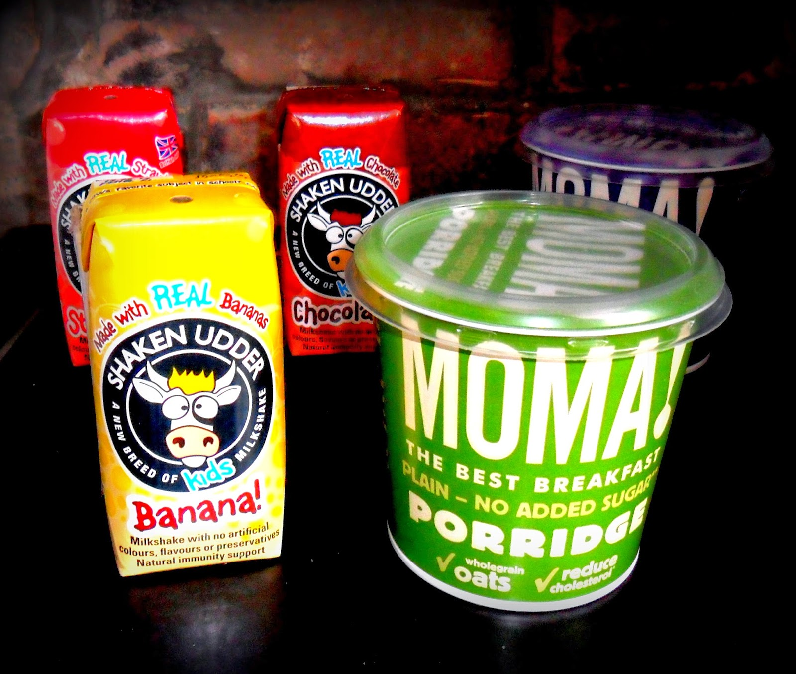 Shaken Udder Milkshakes, Milkshakes, Moma Porridge, Breakfast at Work, Breakfast