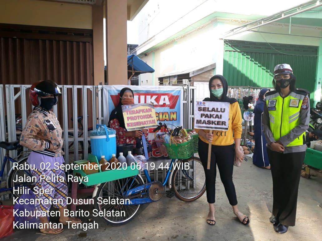 Kedepankan Humanis, Personel Satlantas Polres Barsel Ajak Masyarakat Cegah Covid-19