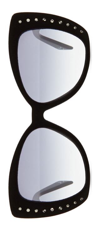 Italia Independent  I-Lux Velvet-texture Crystal Sunglasses