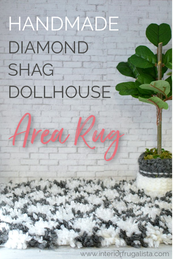 Handmade Diamond Shag Dollhouse Area Rug