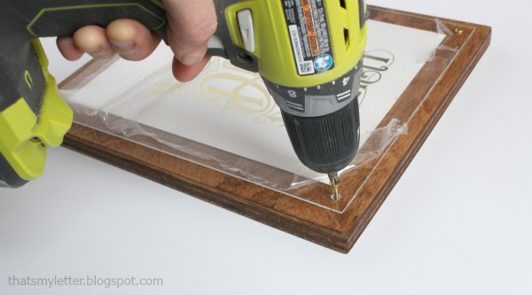 diy plywood frame with plexiglass and screws