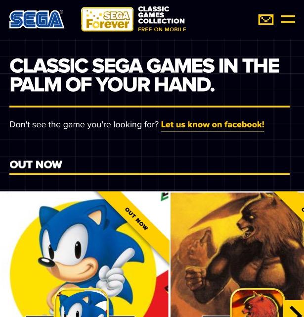 The Dreamcast Junkyard: SEGA Forever Finally Revealed