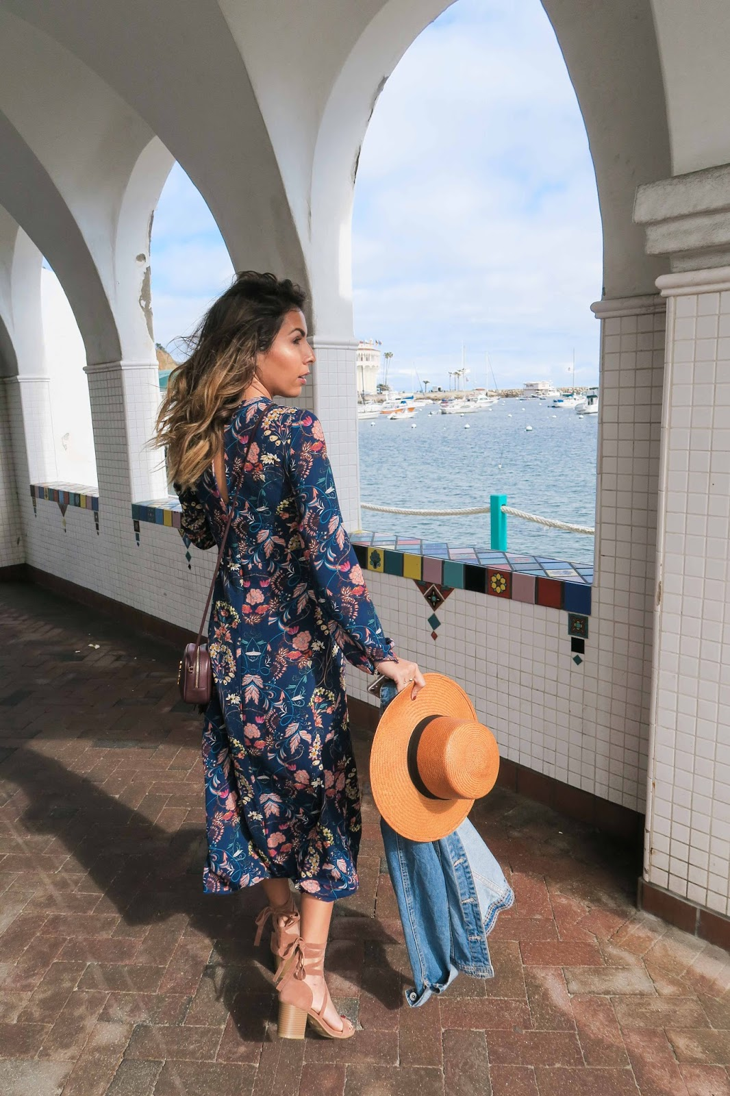 what to wear in catalina, catalina travel guide, a weekend in catalina, how to wear floral dress