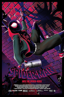 "New York Comic Con 2019 Exclusive Spider-Man ""Into the Spider-Verse"" Screen Print by Bruce Yan x Grey Matter Art x Marvel"