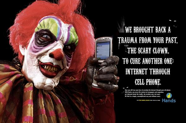 Forget the creepy clown pranks watch these 19 great ads featuring only the etrade baby doesnt seem to be rattled by clowns he actually went an ordered bobo in himself mozeypictures Choice Image