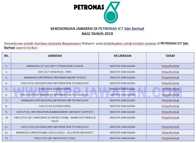 PETRONAS ICT Sdn Berhad.