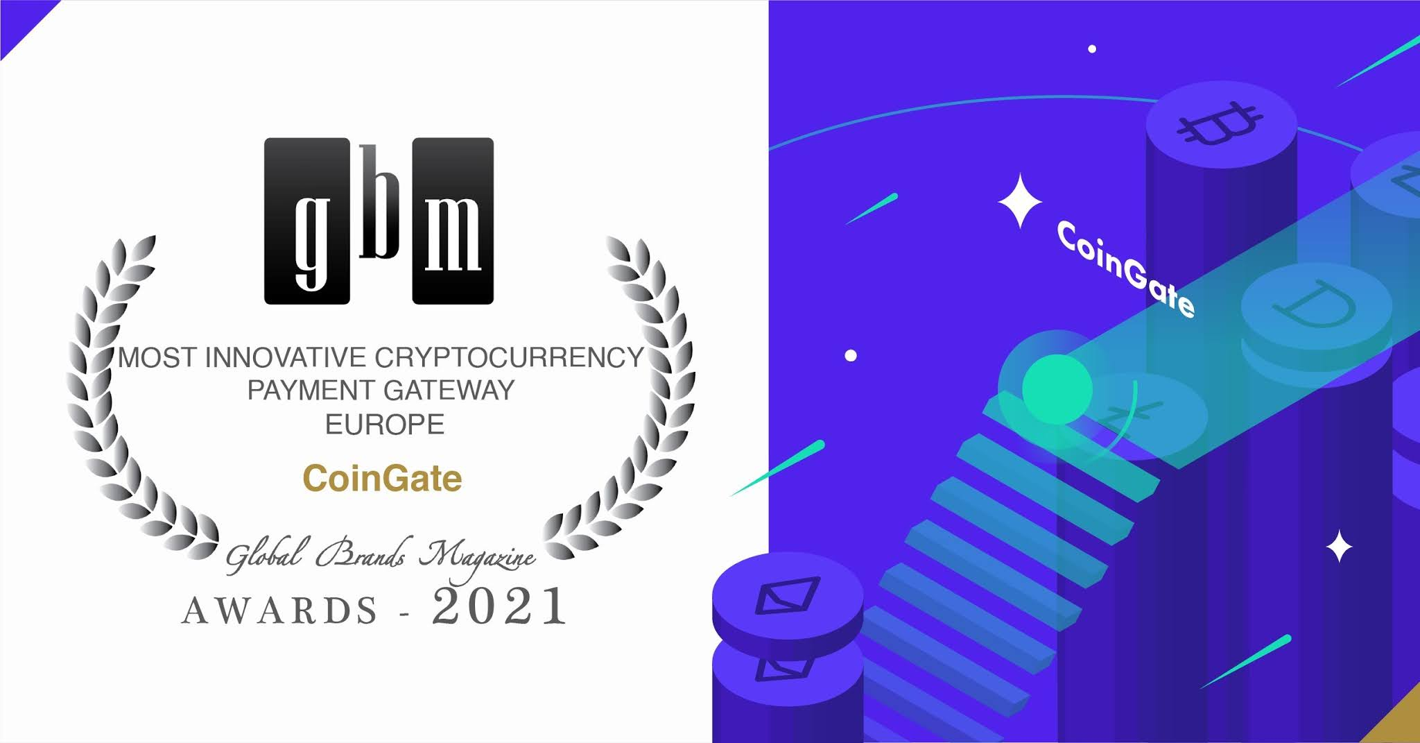 CoinGate wins Most Innovative Cryptocurrency Payment Gateway in Europe 2021 award