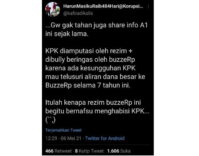 GEGER! Bang Iyut Bocorkan Info A1: KPK mau telusuri aliran dana besar ke BuzzeRp selama 7 tahun ini, Makanya diamputasi