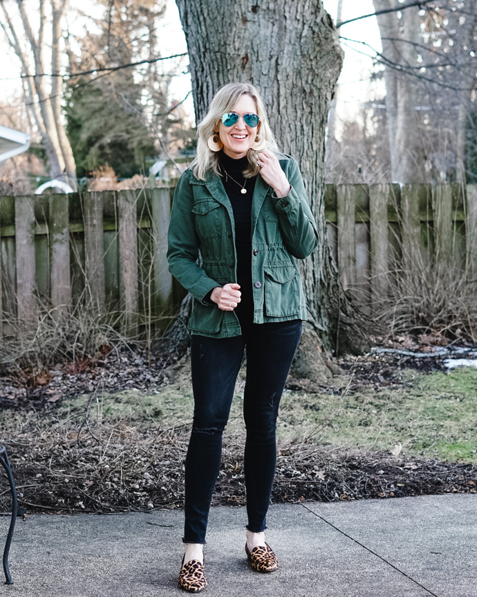 green army jacket outfit