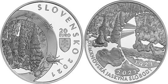 Slovakia 20 euro 2021 - Demänovská Cave of Liberty