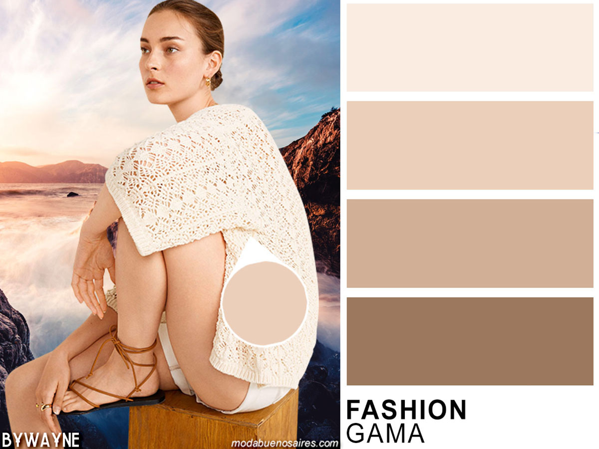 Tonos pasteles, colores de moda primavera verano 2020.