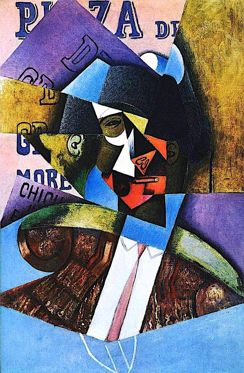 a Juan Gris painting of a man