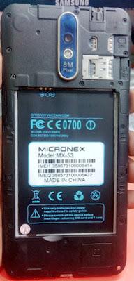 MICRONEX MX-53 FLASH FILE FIRMWARE