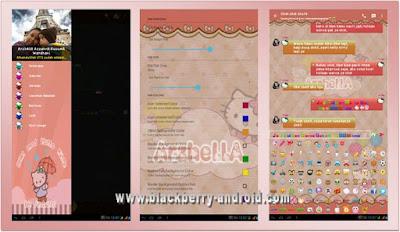 BBM MOD New v2.12.0.11 Tema Hello Kitty Clone