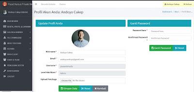 Web Company Profile - Pengaturan Profil