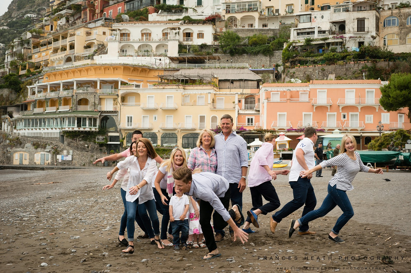 Family portrait on Positano beach