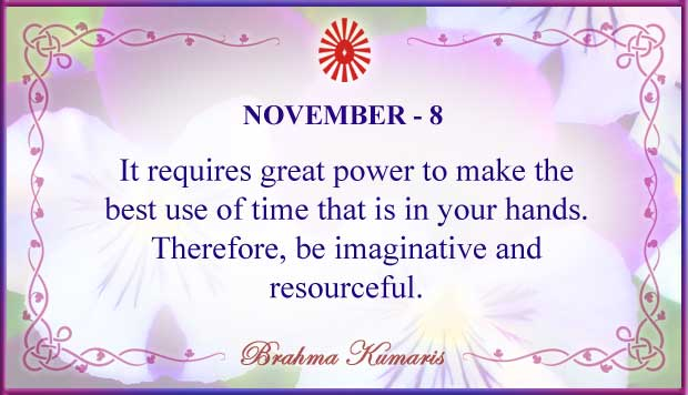 Thought For The Day November 8