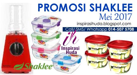 promosi, shaklee, mei, 2017, membership, shaker, tupperware, blender, rubbermaid, ferrano, inspirasihuda,