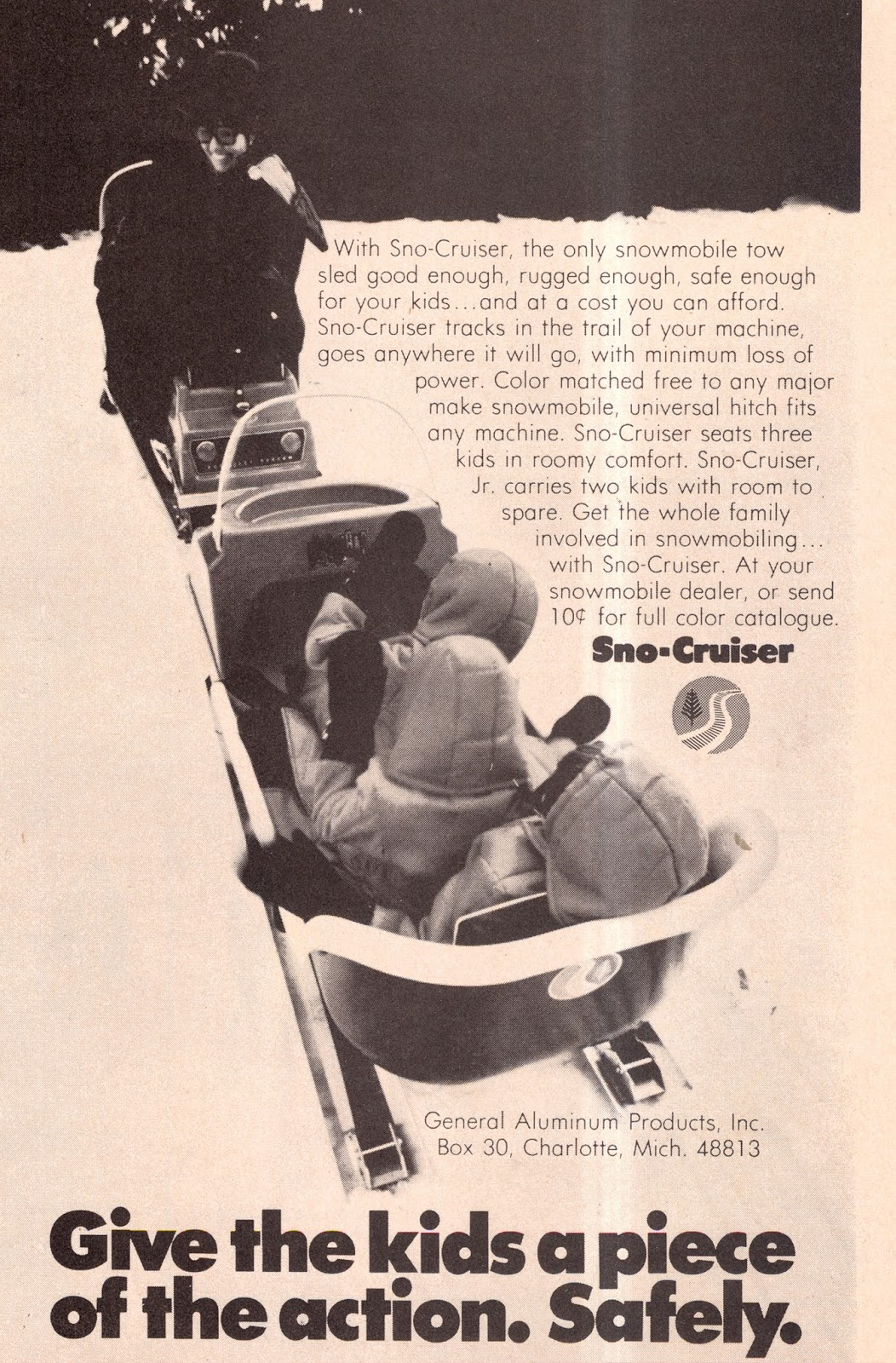 CLASSIC SNOWMOBILES OF THE PAST: 1972 SNO-CRUISER TOW SLED