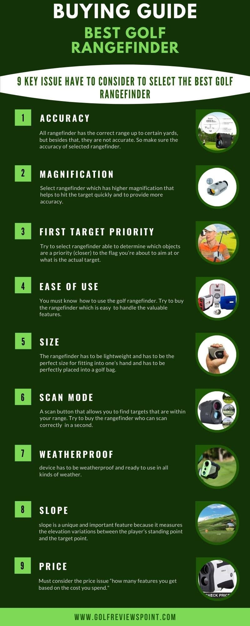 Best Golf Rangefinder with slope – 2020 #infographic