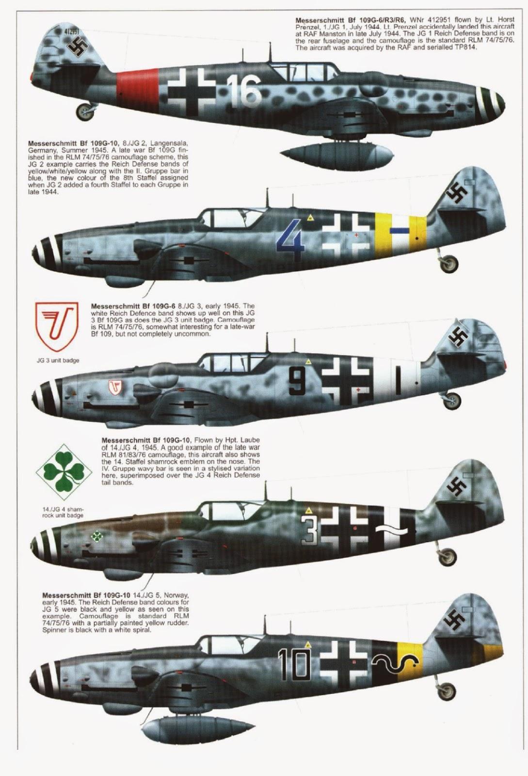 German Aircraft of WWII: Messerschmitt Bf 109 Part III