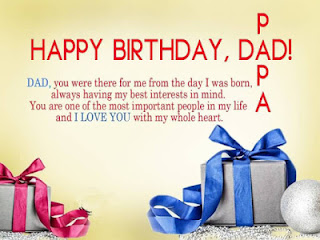 birthday wishes for father in English