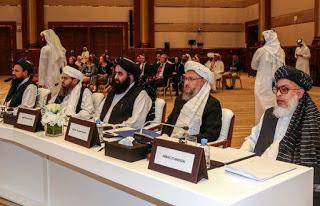 les négociateurs talibans à Doha