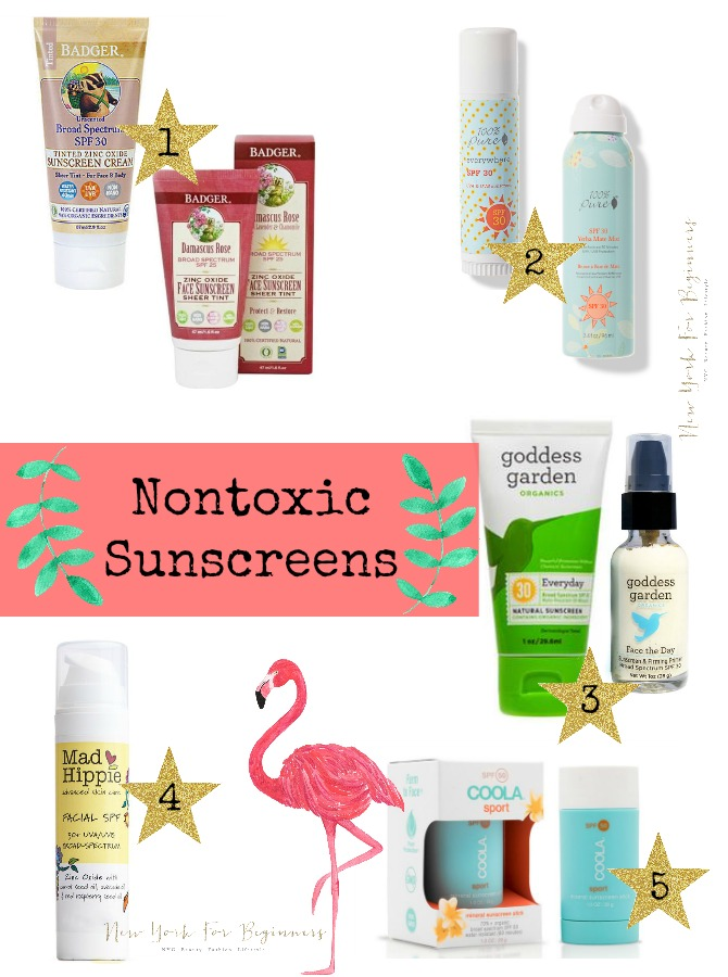 My top 5 safe physical sunscreens made in the USA at www.newyorkforbeginners.com