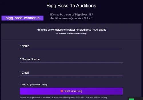 bigg boss 15 registration