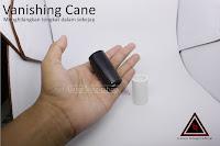 Vanishing Cane Plastic Black