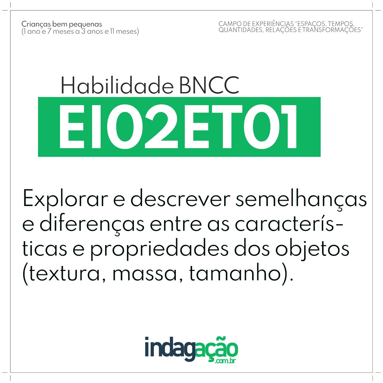 Habilidade EI02ET01 BNCC