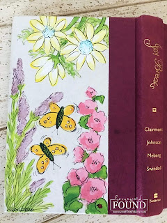 art, art class, color, crafting, DIY, garden, gift wrapping, books, painting, spring, trash to treasure, #MAYkeovers, painted flowers, flowers, gift giving, gift books, book covers
