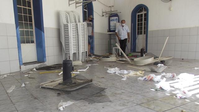 Associação Comercial de Patos é arrombada por bandidos roubam e deixa um rastro de destruição no local