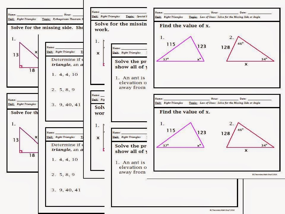 The Spectacular World Of Secondary Math: Warm-Ups/Bellwork