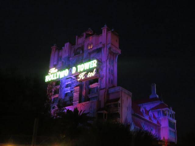 Twilight Zone Tower of Terror At Night Disney's Hollywood Studios