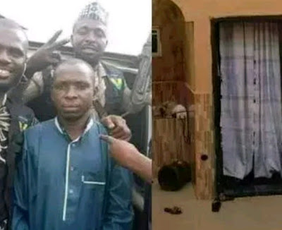 Check In To See The Building Where Notorious Kidnapper, Wadume Was Hiding In Before His Arrest