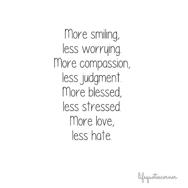 More smiling, less worrying