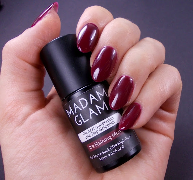 Madam Glam It's raining men gel one step polish review swatch