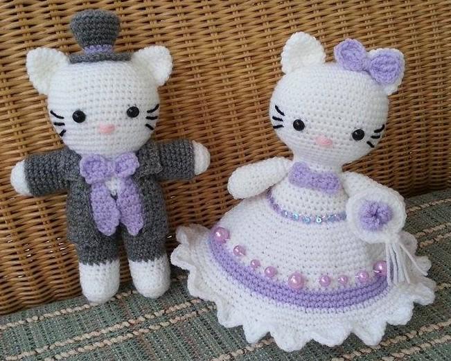 Häkelfieber Austria Hello Kitty Viktorianisches Brautpaar