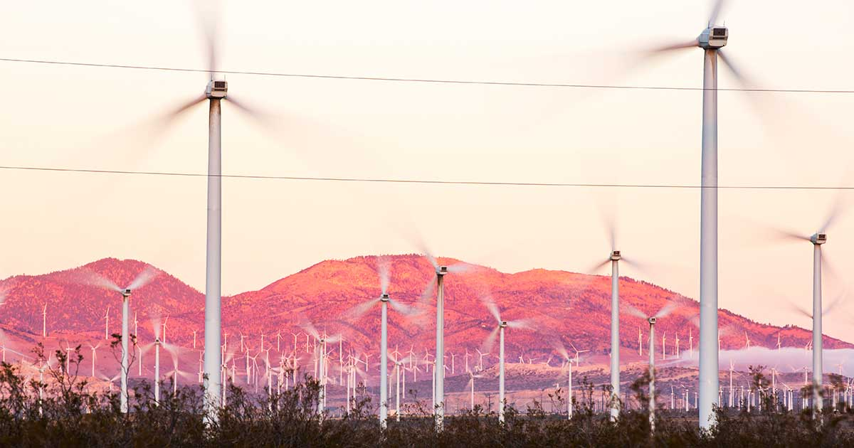 Reduce Climate Change Rate by Using Wind Energy as in Kern County, California